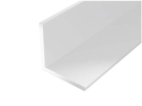 Cornière égale PVC blanc 1m 10x10mm Ep.1mm