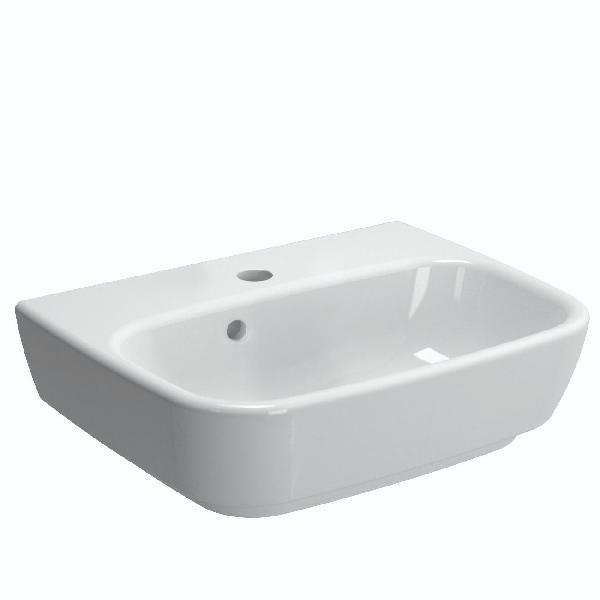 Lavabo SHIFT avec trou de trop plein blanc 60cm NF