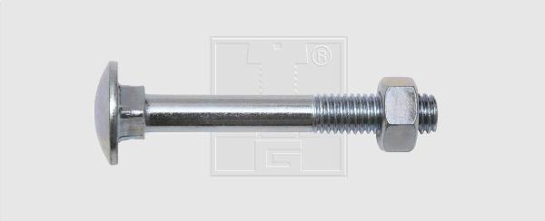 Boulon bois TRCC zingué Ø6x30mm sachet 10