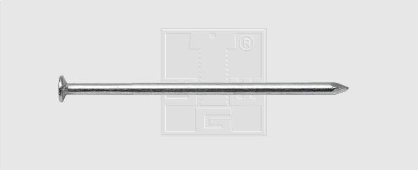 Pointe tête plate 2,2x50 zingué boite 100
