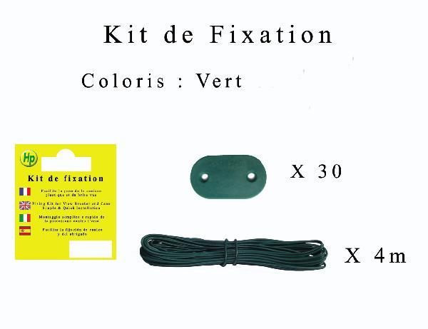 KIT FIXATION pour brise vue vert
