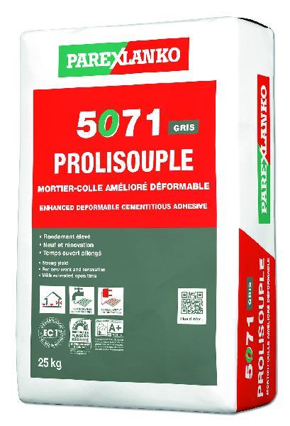 Mortier colle PROLISOUPLE 5071 gris sac 25kg