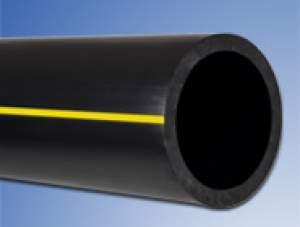 Tuyau PEHD gaz PE80 bande jaune Ø032 50m NF