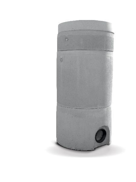 Elément droit Ø800 H900 avec échelons