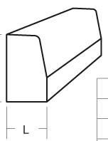 Bordure béton T1 grise classe U 1m