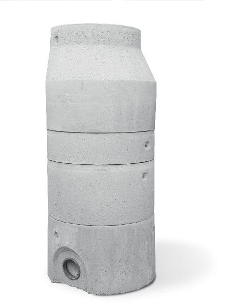 Réhausse béton pour regard Ø1000 H.30cm avec échelon