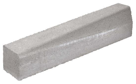 Bordure béton T2 biaise gauche grise 1m