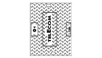 """Tampon fonte pour L1T à L4T C250 logo """"TELECOM EJ """""""