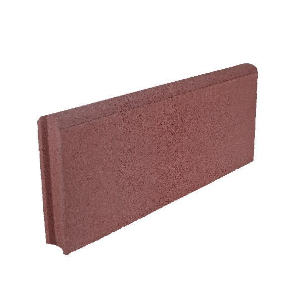 Bordure LISSE droite Ep.5x50cm H.20cm rouge