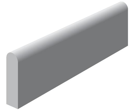 Bordure béton P2 grise classe T 1m