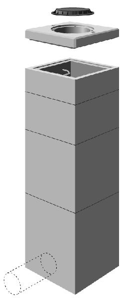 r hausse b ton pour regard 800x800 avec chelon. Black Bedroom Furniture Sets. Home Design Ideas