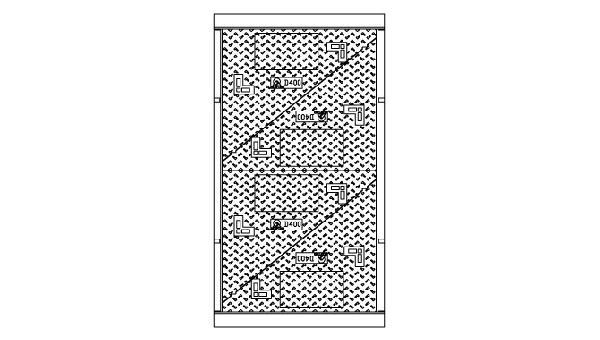 Cadre + 4 tampons fonte pour K2C D400 sans logo