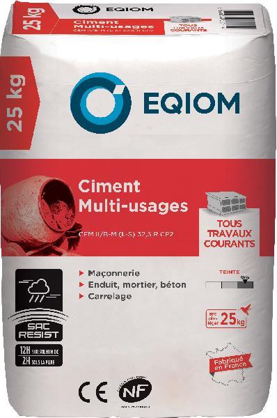 Ciment gris multi usages CEM II/B-L 32,5 R CE+NF sac 25kg