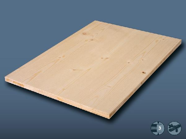 Panneau 3 plis épicéa AB/B 19x5000x1250mm