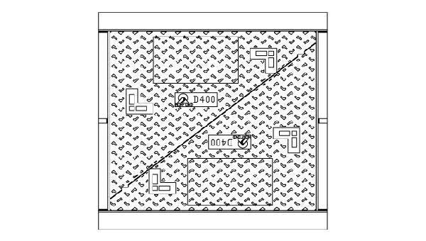 Cadre + 2 tampons fonte pour K1C D400 sans logo