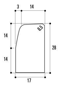 Bordure béton T3 grise classe U 1m