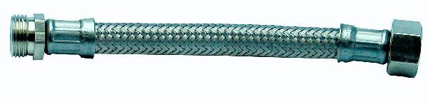 FLEXIBLE ALIMENTATION INOX MALE-FEMELLE 1/2-1/2 13X18 300MM 2036-50