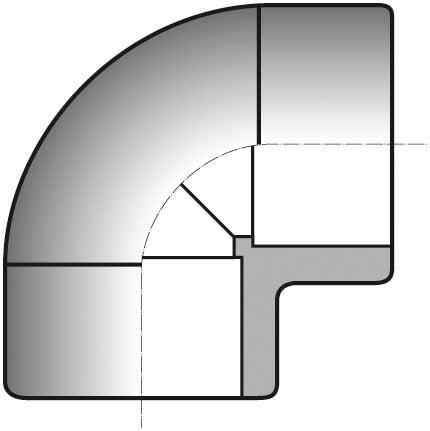 COUDE MIXTE PVC PRESSION 90° FF Ø063
