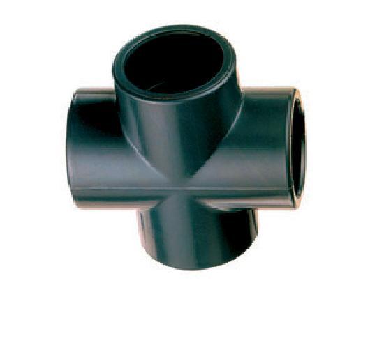 Croix mixte PVC pression femelle Ø063 SCR1063
