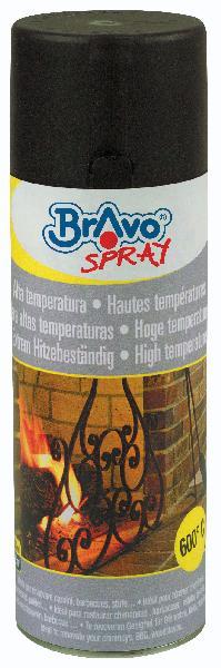 Aérosol de peinture haute température noir bombe 400ml