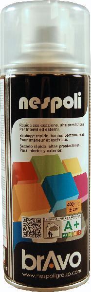 Aérosol de peinture acrylique vernis incolore mat bombe 400ml