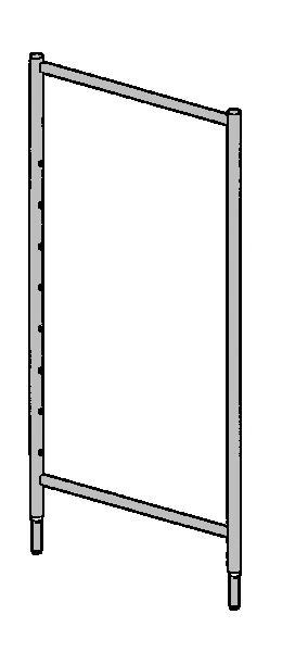 Echelle 2 barreaux percées J00080 galva 2m pour échafaudage