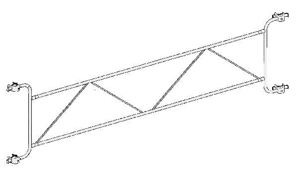 Garde-corps fixe J00072 galva 3m