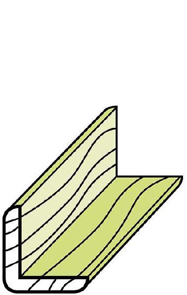 Corniére d'angle mélèze non traité 45x45mm 2,70m paquet 4