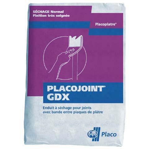 Enduit à joint poudre à séchage PLACOJOINT GDX sac 25kg