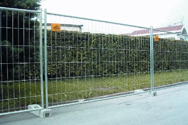 Clôture de chantier 4 tubes LOGOTE SAMSE ht.2m 3,35m