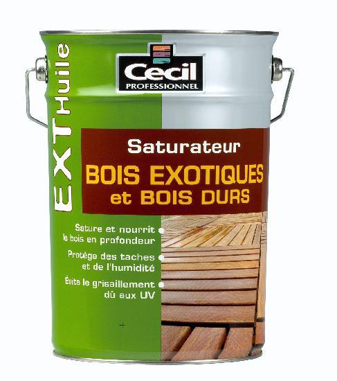 SATURATEUR BOIS EXOTIQUES ET DURS EXTERIEUR EXT HUILE TECK 5L