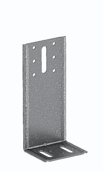 Equerre de bardage ABC 65x98x53mm Ep.2,5mm acier galva