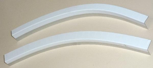 Cornière souple galva 24x24mm blanc 2,50m