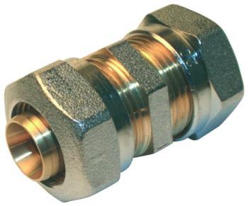 Jonction égale à compression Ø16 pour tube multicouche