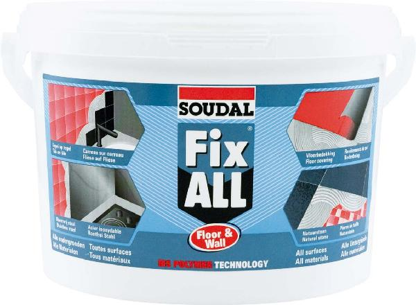 Mastic colle tous supports FIX ALL FLOOR AND WALL polymère seau 4kg