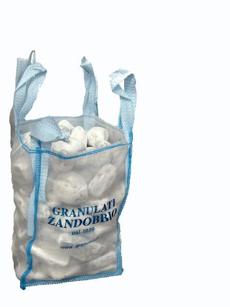 Galets roulé marbre 40/60mm blanc carrare mini bag 250kg