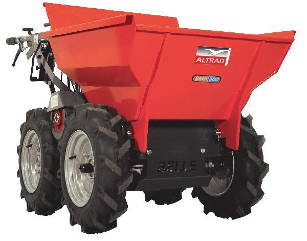Mini dumper 4x4 tout-terrain BMD rouge
