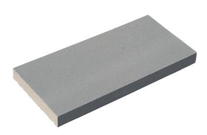 Couvertine plate 49x28cm Ep.4cm gris