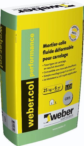 Colle weber col performance gris 25kg - Prix colle carrelage weber ...