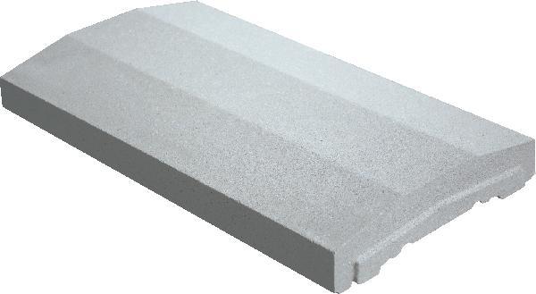 Couvertine OPTIPOSE spéciale platine 49x28cm Ep.4cm gris