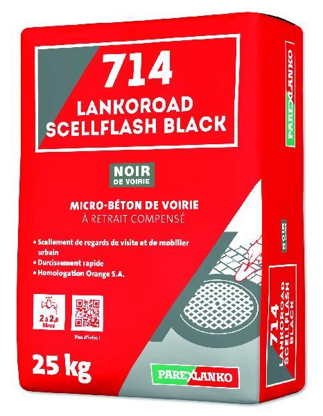 Microbeton scellement tampon 714 LANKOROAD SCELLFLASH black sac 25Kg