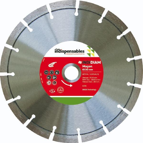 Disque diamant Ø230mm LES INDISPENSABLES pour maçon