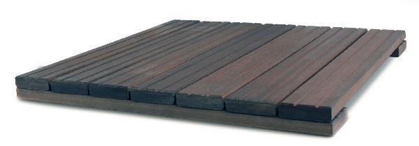Dalle caillebotis massaranduba traité CL4 7 lames/2V 38x500x500mm
