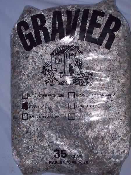 Gravier 5/12 roulé lavé sac 35kg