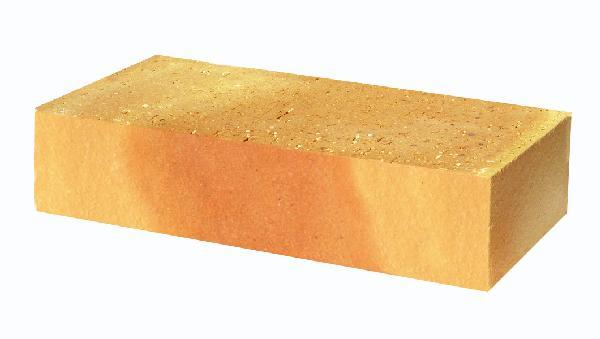 Brique pleine REFRACTAIRE vieux jaune 22x10,5cm Ep.5cm