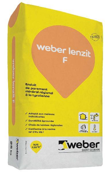 Enduit WEBER LENZIT F 61005 pierre rosée sac 30Kg