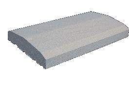 Couvertine plate 100x30cm gris