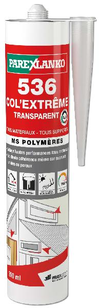 Mastic LANKOCOL COL EXTREME 536 MS Polymère transparent 290ml