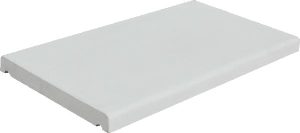 Couvertine LISSE COULE plat 49x28cm Ep.3cm blanc
