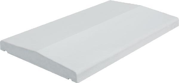 Couvertine LISSE COULE 2 pentes 49x28cm Ep.3cm blanc cassé